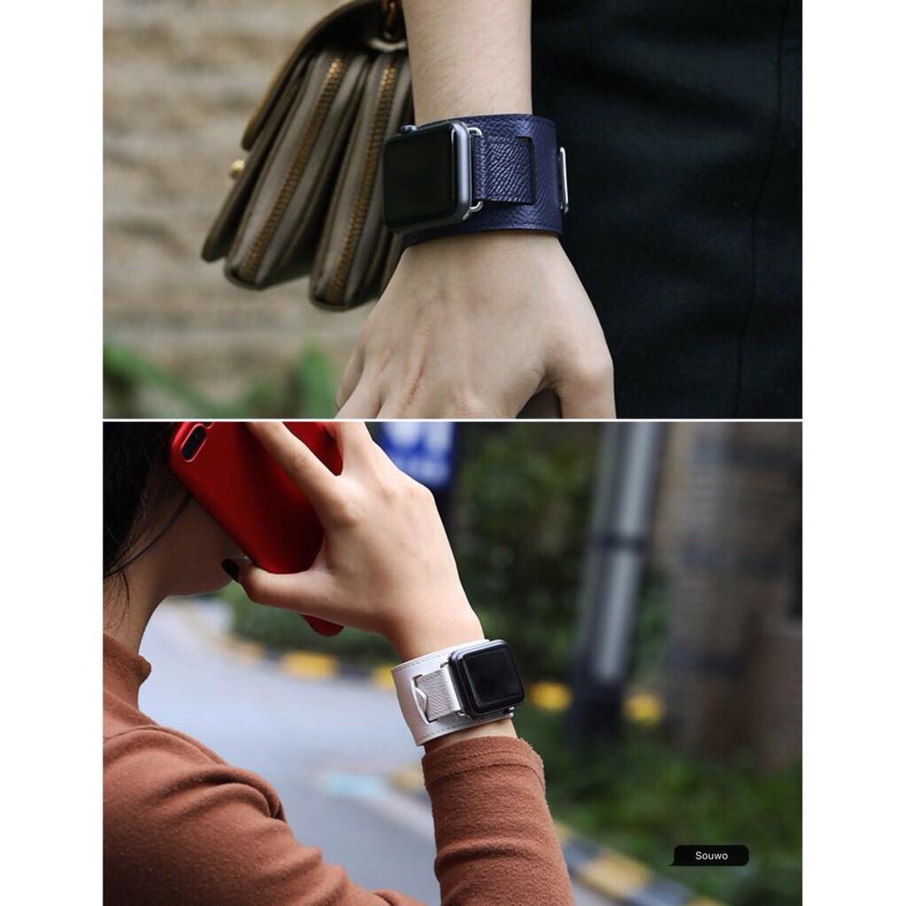 สายนาฬิกาข้อมือหนังสําหรับ Applewatch 123456