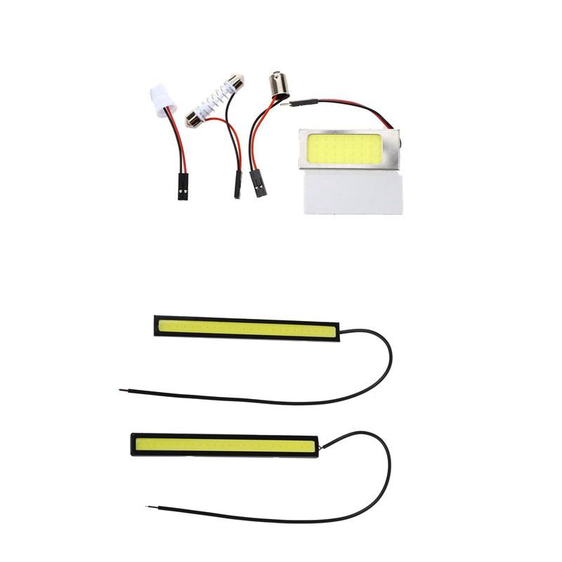 แผงไฟ Led 36 ซัง Dc12V 2.5W + Festoon Ule + T10 + Ba9S พลังงานสูง & 2X 5W โคมไฟ Dc12V สีขาว 1 ชุด