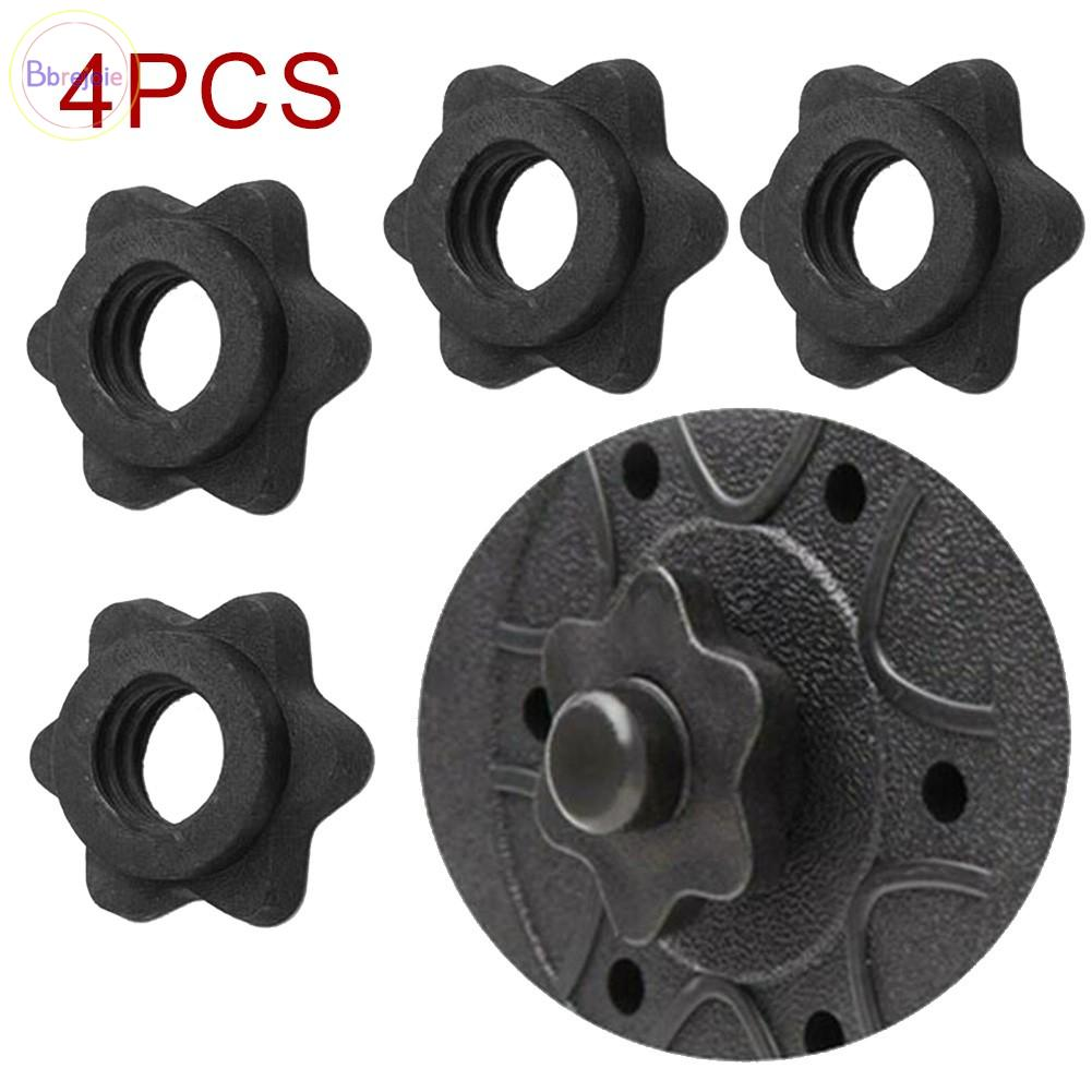 4Pc Weight Spin Lock Screw Barbell Bar Clips Check Nut Dumbbell Spinlock Collars