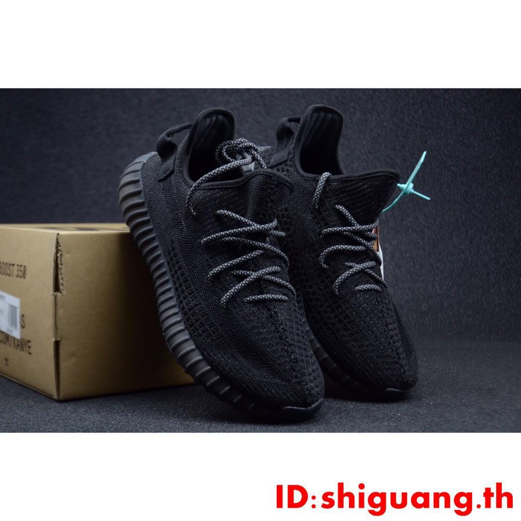 """Popcorn midsole รองเท้าวิ่งจ๊อกกิ้งสำหรับกีฬา"" Kanye West x adidas Yeezy Boost 350 V2 ""Black Static"