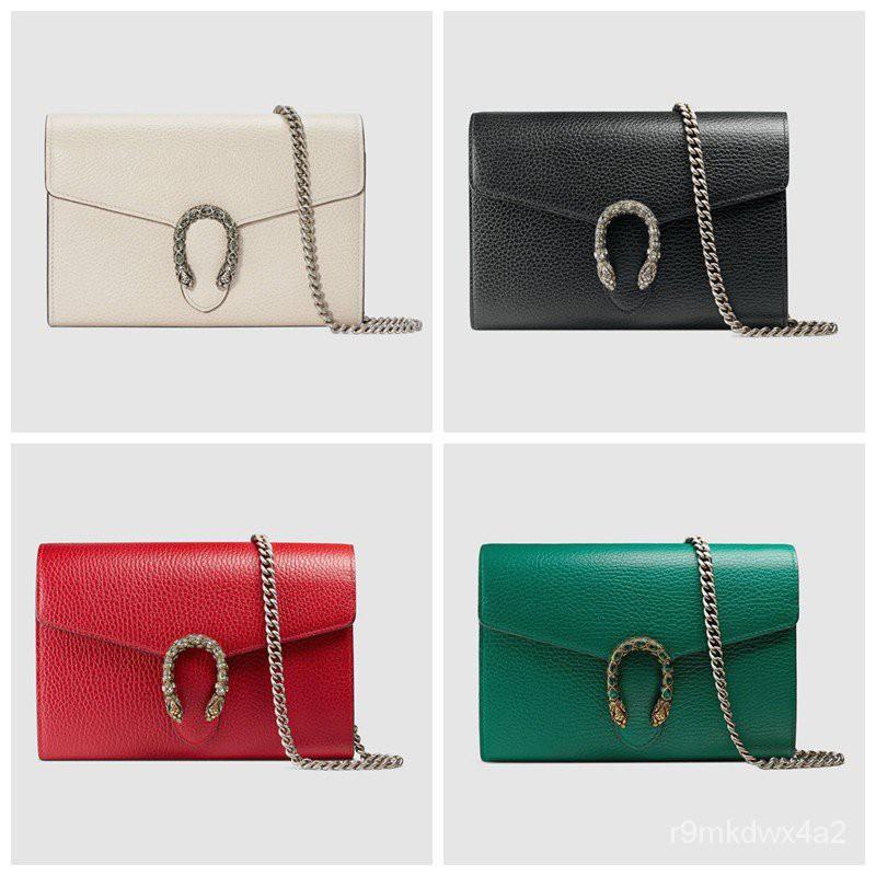 Gucci / New / Dionysus series chain leather mini handbag / ของแท้ 100% / 20CM (จัดส่งฟรี)