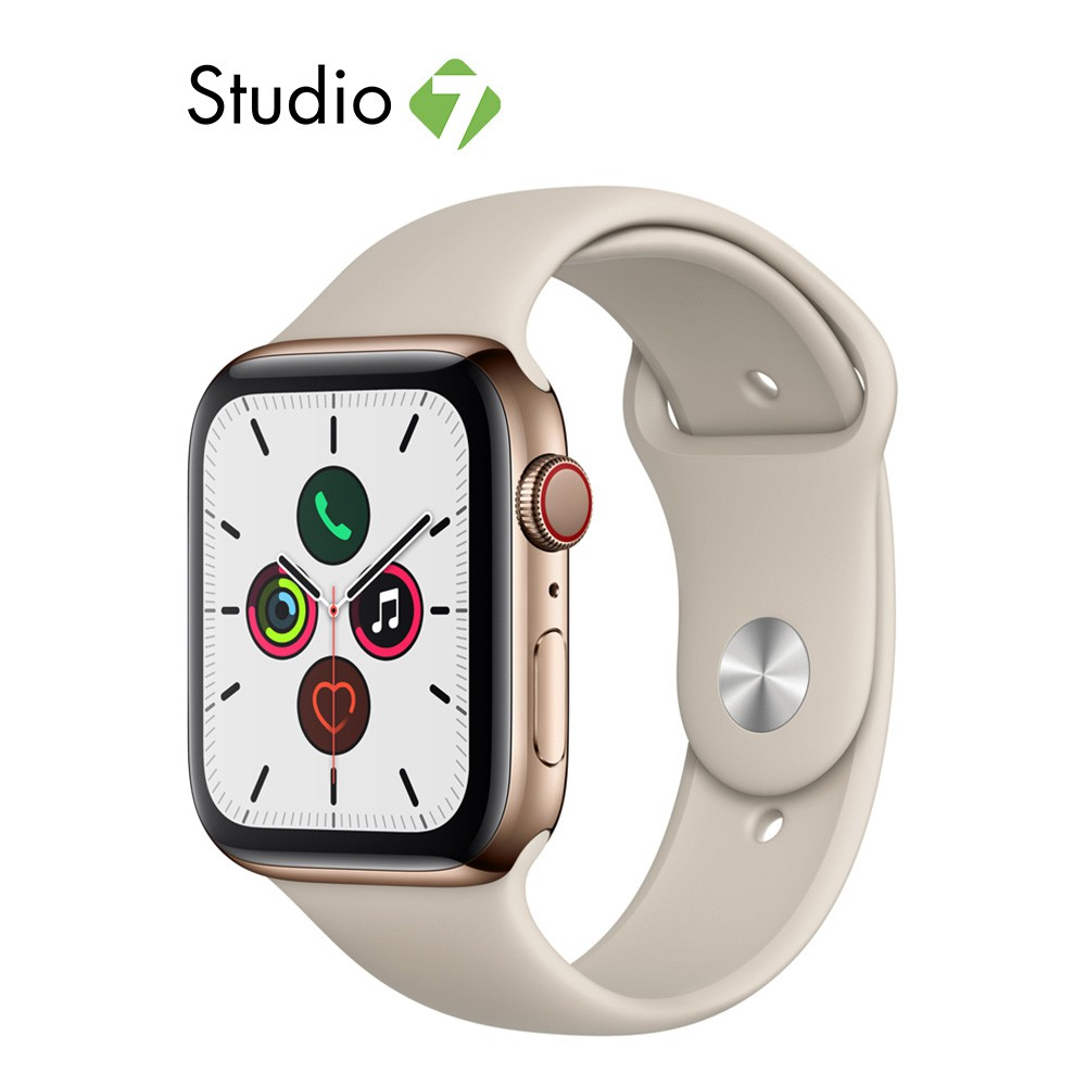 Apple Watch Series 5 GPS + Cellular Stainless Steel Case with Sport Band สมาร์ทวอช, แอปเปิ้ลวอช by Studio7