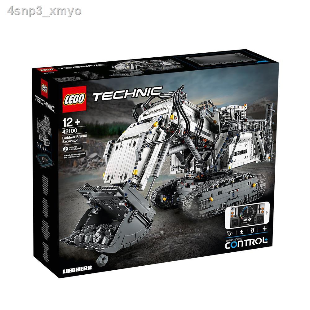 ของเล่นเด็ก✔✠LEGO building block toy technology group series Liebherr excavator 42100 รถแข่งสำหรับเด็ก