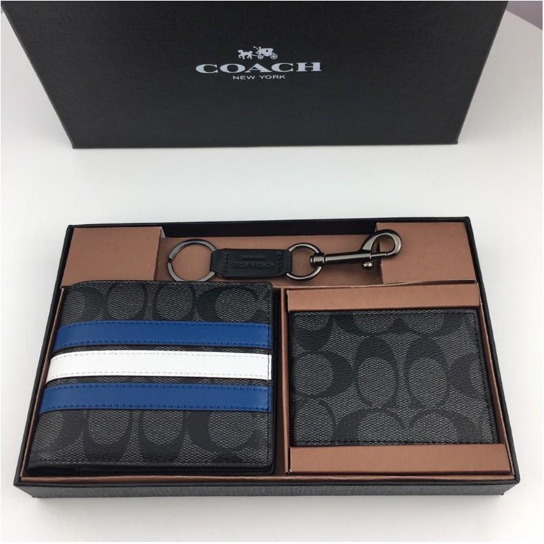 COACH กระเป๋าสตางค์ F26072 กระเป๋าสตางค์ coach กระเป๋าสตางค์ใบสั้น กระเป๋าสตางค์ผู้ชาย กระเป๋า ของแท้ 100%