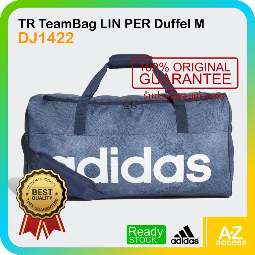 ellos corto Y así  Adidas กระเป๋าดัฟเฟิล LINEAR PERFORMANCE DJ1422 NVY | Shopee Thailand