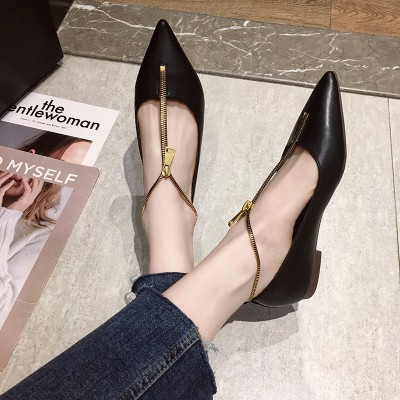 รองเท้าคัชชูผู้หญิง💕รองเท้าส้นแบน💕รองเท้าคัชชู หัวแหลม💕รองเท้าคัชชูเปิดส้น รองเท้าส้นแบน สีสวย ใส่ไปทำงานได้