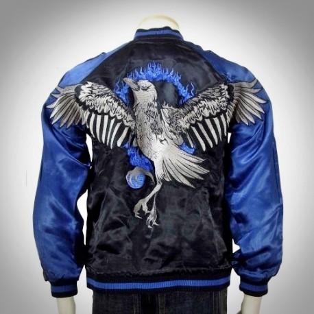 SUKAJAN แบรนด์แท้ญี่ปุ่น  Japanese Souvenir Jacket  แจ็คเกตซูกาจันลาย  FIRE BIRD