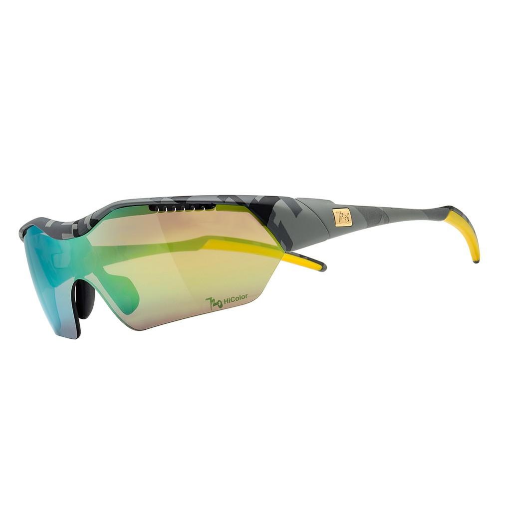 แว่นตากันแดด 720armour รุ่น Hitman ( Asian-Fit) สีกรอบ Grey Abstract Geometric Pattern สีเลนส์ HC Violet Green