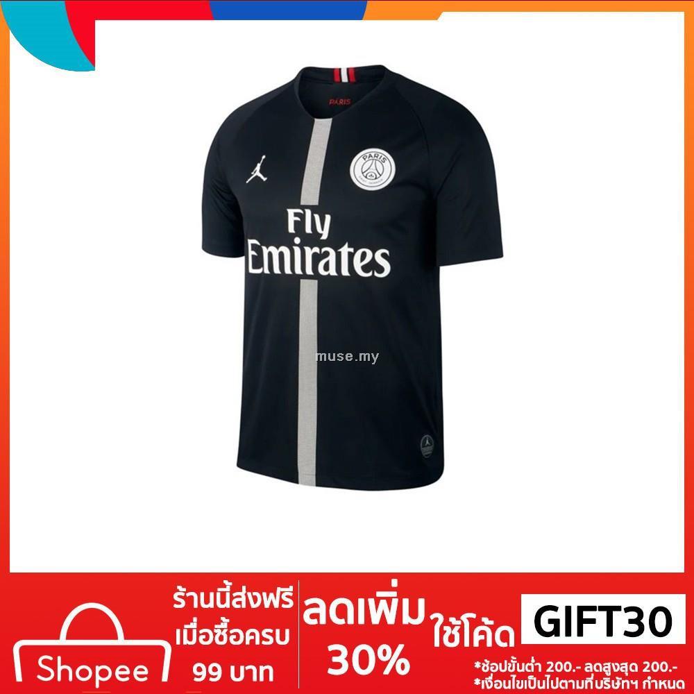 คุณภาพสูง 18/19 ปารีสแซ็ง-แฌร์แม็งฟุตบอลเสื้อ *  เสื้อฟุตบอลสนามกีฬารุ่นพิเศษ * (สีดำ)