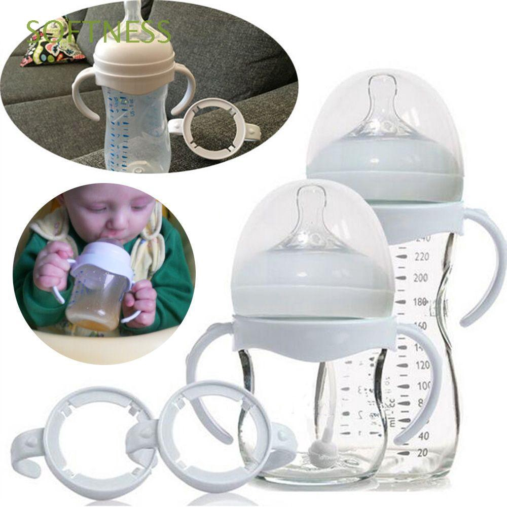 2Pcs Bottle Grip Handle for Avent Natural Wide Mouth Feedings Bottle Accessories