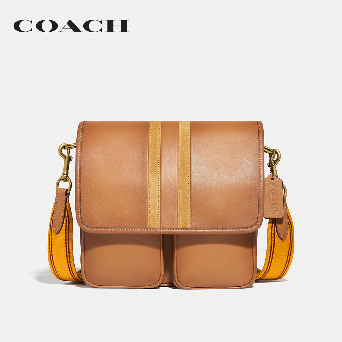 COACH Map Bag With Varsity Stripe CO3681 OLRBA กระเป๋าสะพายข้าง