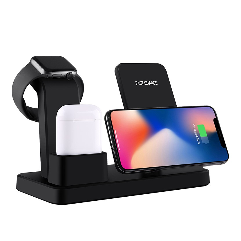 3 in 1 Wireless Charger For iPhone 12 MINI 11 Pro Xs Max X XR 8 PLUS , Apple Watch 6 SE 5 4 3 2 1 Airpods QI Wireless Charger Stand Dock
