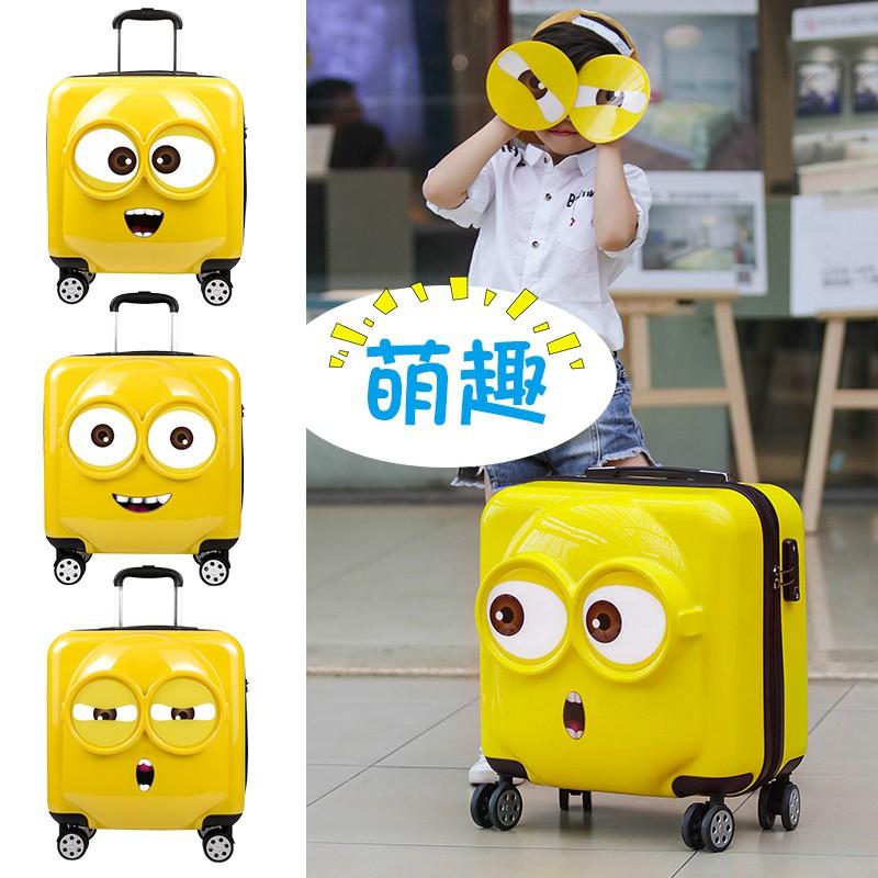 ✥❇กระเป๋าเดินทางเด็ก รถเข็นเด็ก กระเป๋าเดินทางใบเล็ก 20 นิ้ว กระเป๋าเดินทางนักเรียนหญิง กล่องใส่รหัสผ่านลายการ์ตูนน่ารัก