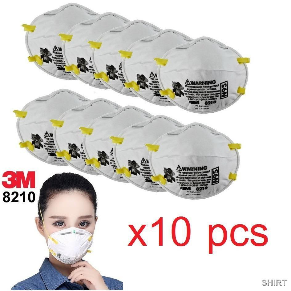 🧀☸☁☬3M 8210N9510ชิ้น) หน้ากากป้องกันฝุ่น PM2.5 8210 (เอ็น95)