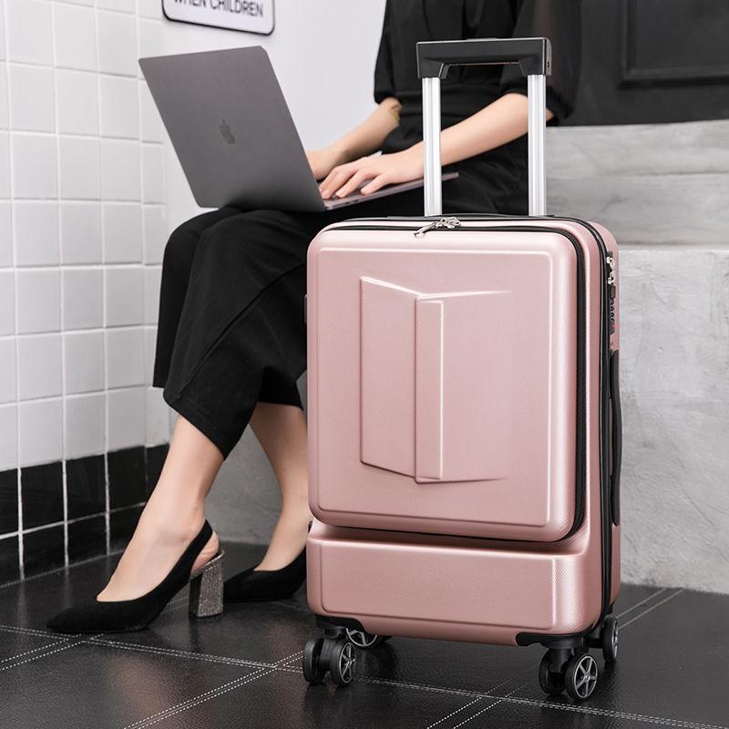 ▧✧กระเป๋าเดินทางธุรกิจชาย 20 นิ้วคอมพิวเตอร์กระดานด้านหน้าเปิดกล่องรถเข็นหญิงสากลล้อ 24 รหัสผ่านกระเป๋าเดินทาง
