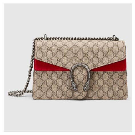 [GR]Gucci Dionysus Small GG Shoulder Bag Beige / Ebony Handbag Shoulder Bag 400249