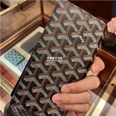 ❁☏✤Goyard Goya bag wallet classic print men s long wallet multi-card mobile phone bag double-sided double-sidedfold wall