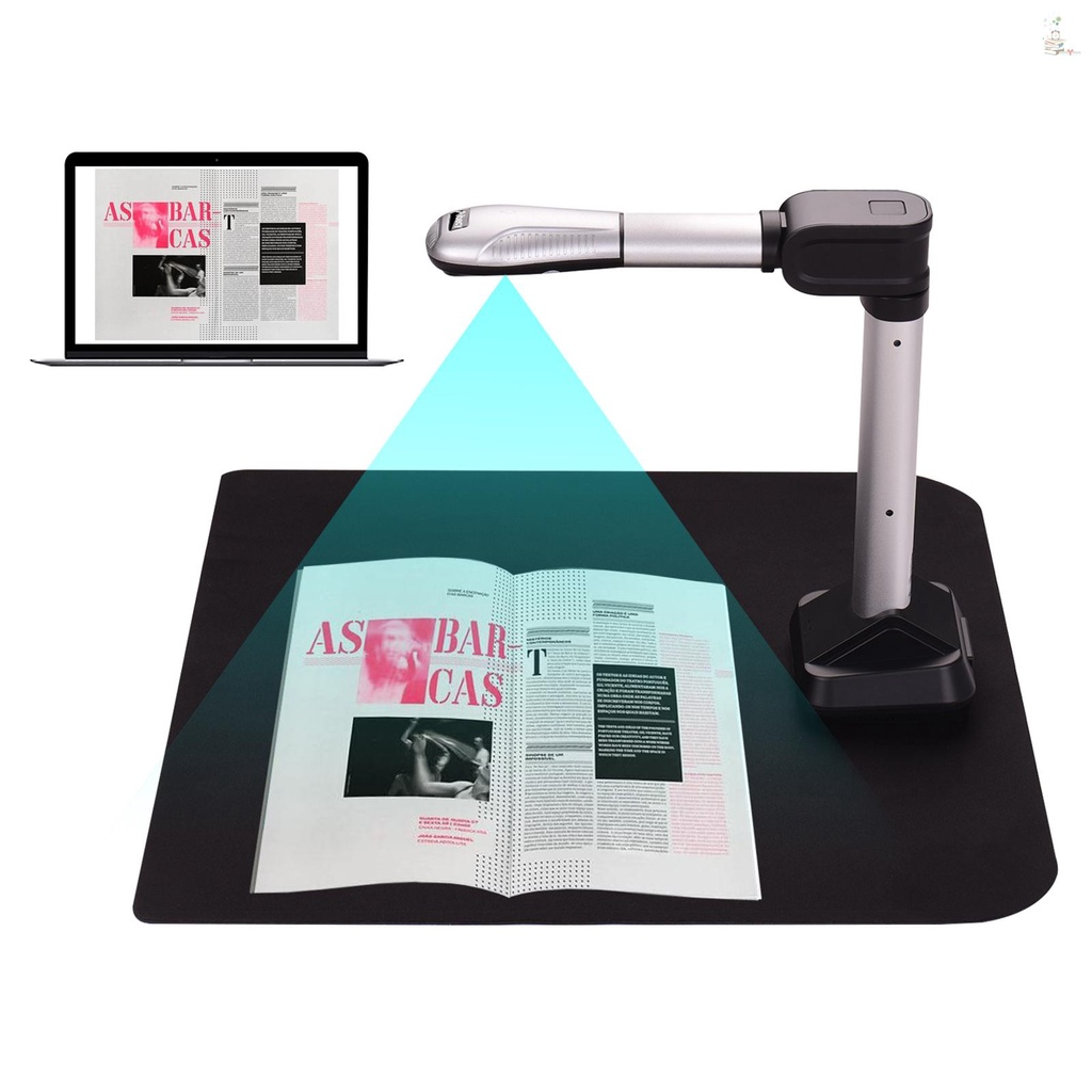 OF Aibecy BK51 USB Document Camera Scanner Capture Size A3 HD 16 Mega-pixels High Speed Scanner with LED Light for ID Cards Passport Books Watermarks Setting PDF Format Export for Classroom Office Library Bank