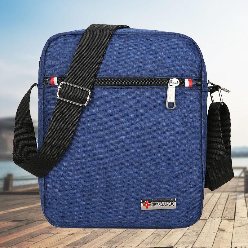 ❀✧﹉กระเป๋าผู้ชายผ้าอ๊อกซ์ฟอร์ดกันน้ำเดียวกระเป๋าสะพายกระเป๋าสะพายข้างกระเป๋าสะพายข้างผู้ชาย กระเป๋าเดินทางใบเล็กแบบพกพา