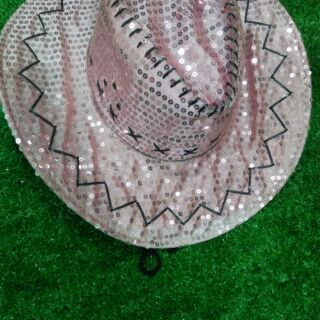 (เก็บเงินปลายทาง)หมวกคาวบอยเลื่อมเพชร (มีหลายสี แบ่งขายราคาส่ง)