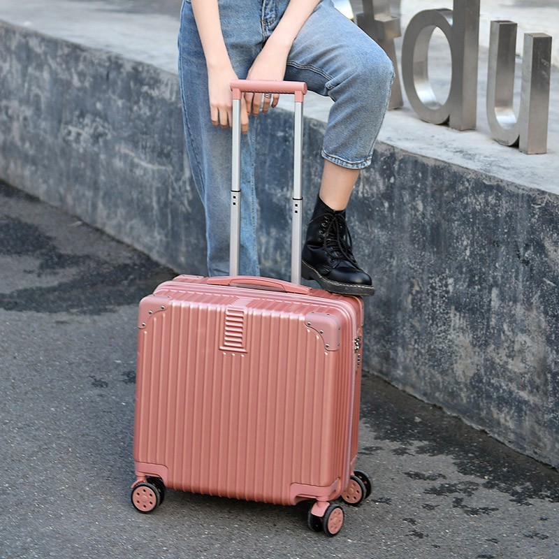 กระเป๋าเดินทางใบเล็ก 14 นิ้วกระเป๋าเดินทางใบเล็กมือสองกระเป๋าเดินทางใบเล็ก☎❐กระเป๋าเดินทางล้อลากขนาดเล็ก 18 นิ้ว กระเป๋า