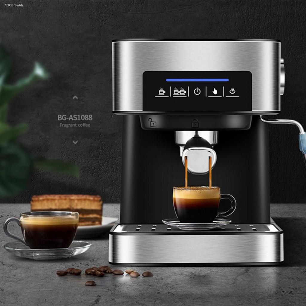 △เครื่องชงกาแฟ เครื่องชงกาแฟเอสเพรสโซ การทำโฟมนมแฟนซี การปรับความเข้มของกาแฟด้วยตนเอง เครื่องทำกาแฟขนาดเล็ก เครื่องทำก