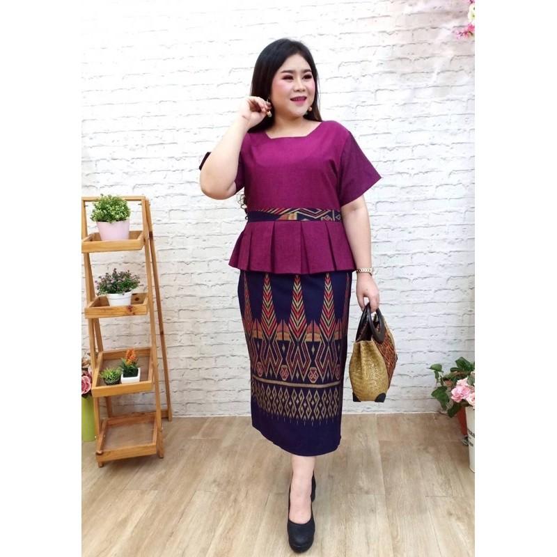 🌴เดรสสาวอวบ🌴เดรสทำงานสาวอวบอ้วน เดรสออกงานคนอ้วน เดรสคนอ้วน เดรสผ้าไทยไซส์ใหญ่ ชุดผ้าไทยคนอ้วน ชุดออกงานคนอ้วน