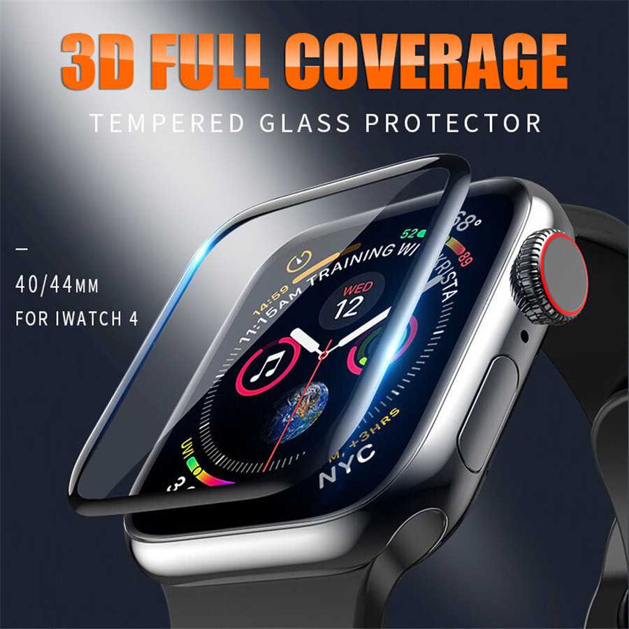 3D Full Cover Tempered Glass for Apple Watch 6 SE 5 4 40mm 44mm Band Cover For Apple iwatch Series 3 2 1 38mm 42mm Protector