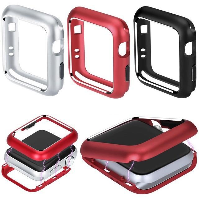 เคส Apple Watch Case (ไม่มีหน้าจอ) 38mm 40mm 42mm 44mm ฝาครอบโครงโลหะแม่เหล็ก for iWatch Series SE 6/5/4/3/2/1