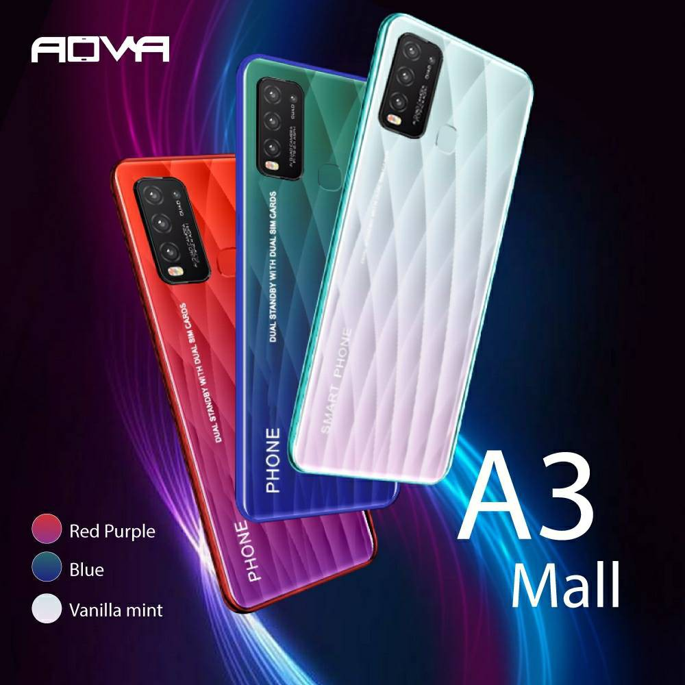 Hocom Aova A3 Mall Ram 3 GB  Rom 32 GB เครื่องศูนย์แท้รับประกัน1ปี