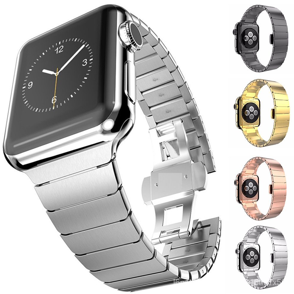 38 40mm 42 44mm watch strap For iwatch 6 Stainless steel Bands for Apple Watch Series6 5 4 3 Link loop band  link bracel