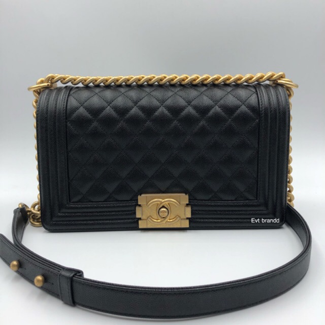 new chanel boy caviar 10 ghw hl28