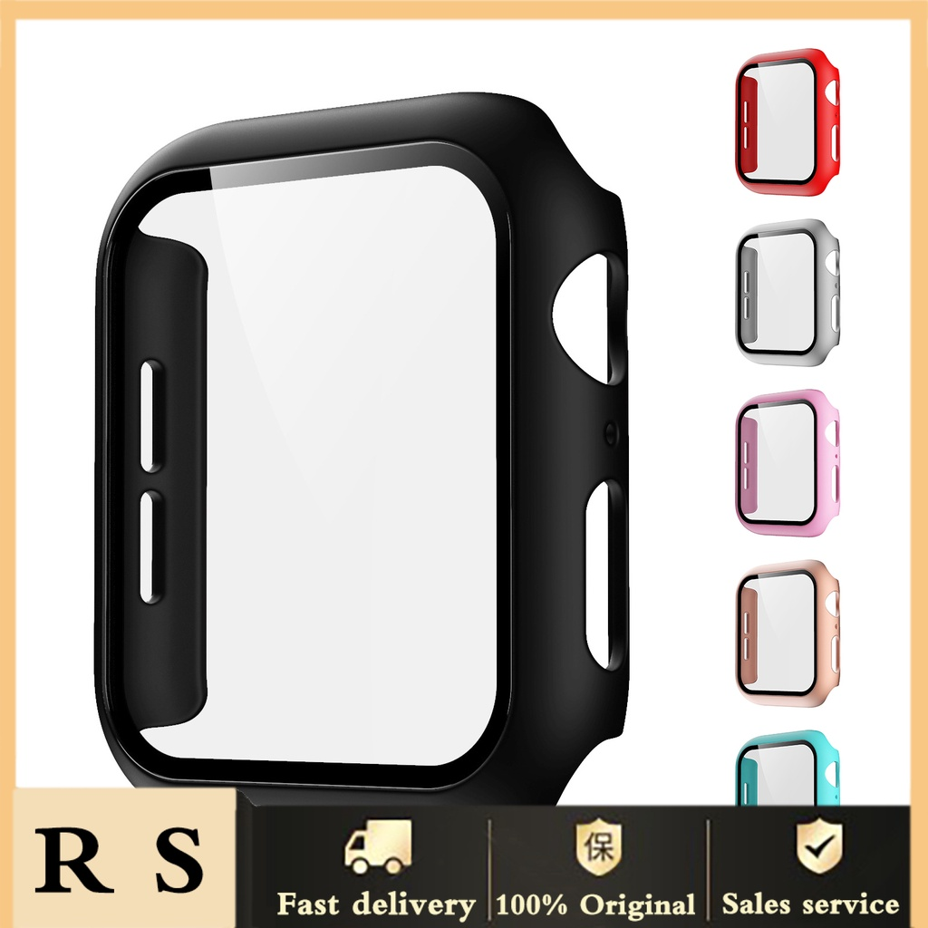 shopee10 Glass Case for Apple Watch Series S6 SE 40mm Scratch Resistant Screen Protector