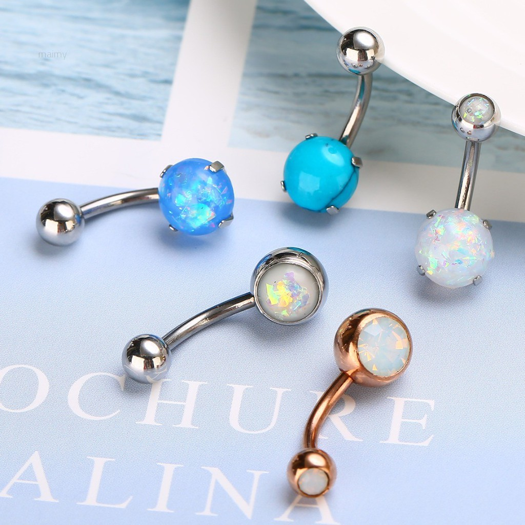 Glow in the Dark 14 g Acrylic 10 mm Navel Belly Button Ring 1