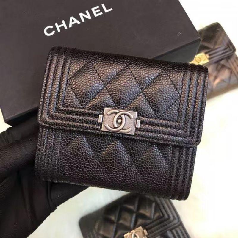 Chanel boy tri Ford wallet