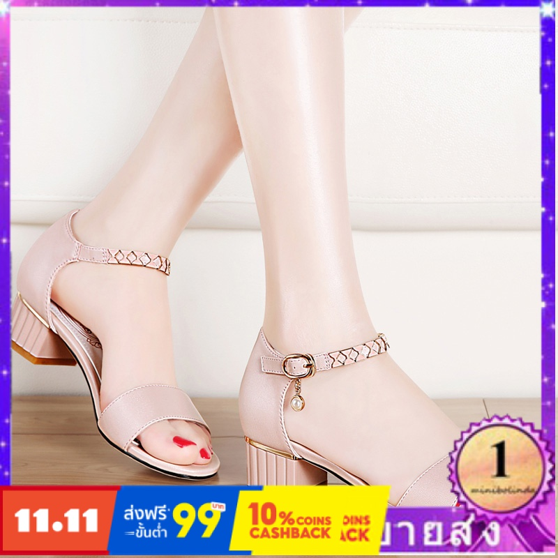 ⭐👠รองเท้าส้นสูง หัวแหลม ส้นเข็ม ใส่สบาย New Fshion รองเท้าคัชชูหัวแหลม  รองเท้าแฟชั่นรองเท้าแตะผู้หญิงเวอร์ชั่นเกาหลีของ