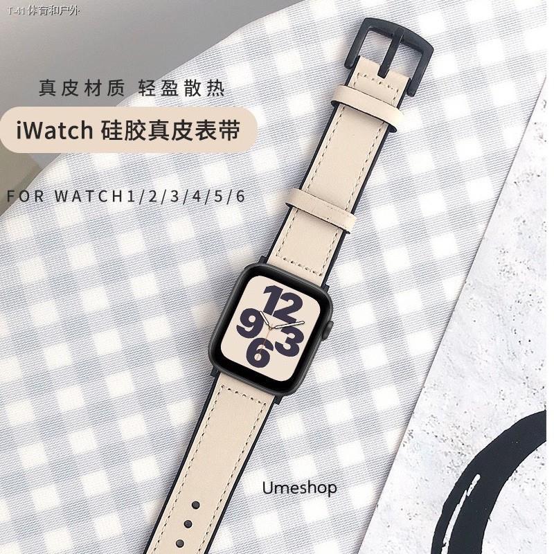 ┋♦☃สาย สำหรับ AppleWatch แบบ หนัง  38/40, 42/44 mm. Series 6 /5/4/3/2/1 series SE สายหนังแบบใหม่!!!