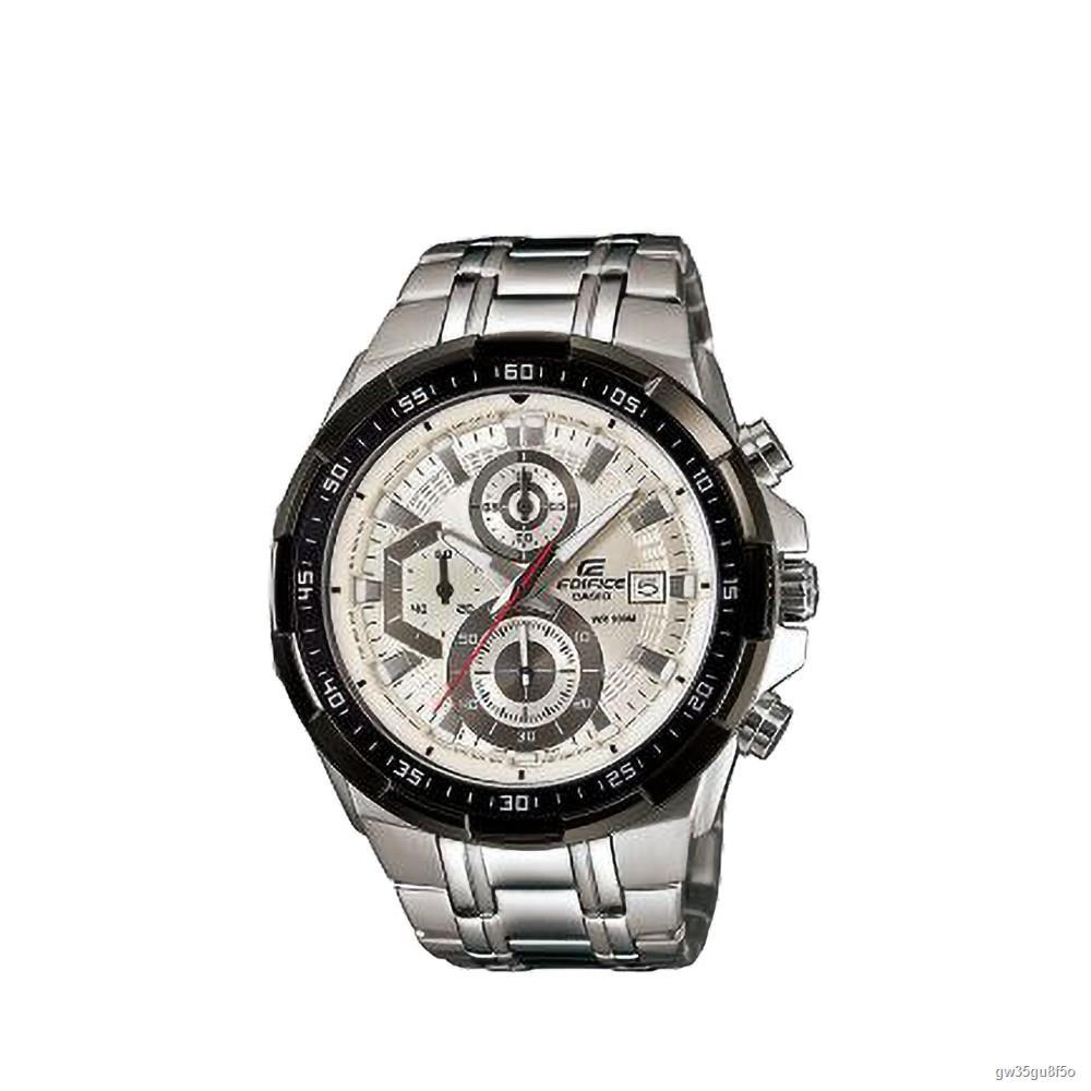 【สินค้าเฉพาะจุด】✌CASIO นาฬิกาข้อมือ EDIFICE รุ่น EFR-539D-7AVUDF นาฬิกากันน้ำ สายสแตนเลส