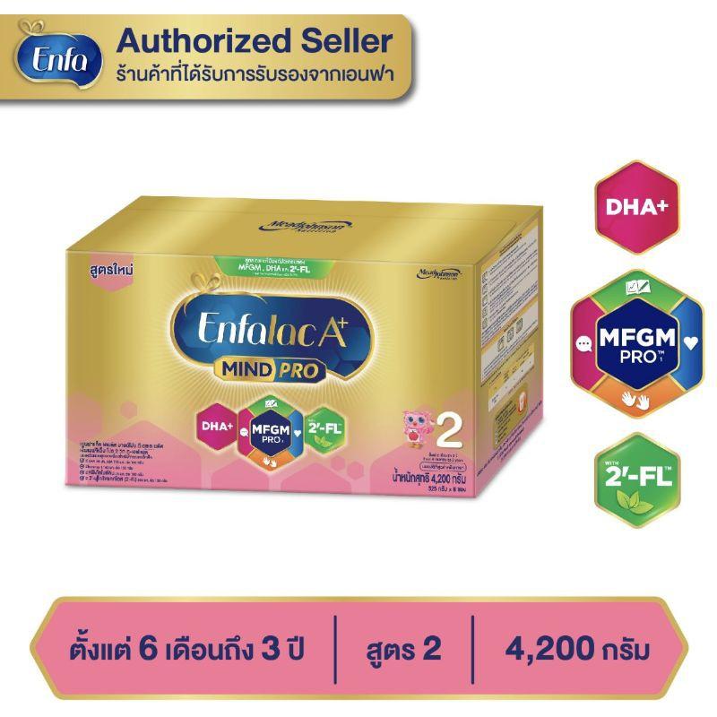 Enfalac เอนฟาแล็ค เอพลัส สูตร2 นมผงสำหรับเด็ก อายุตั้งแต่6เดือน-3ปี ขนาด 4,200กรัม 1กล่องนม plus