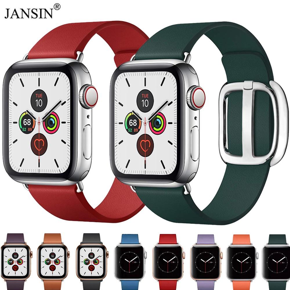 สายเปลี่ยนสำหรับ applewatch สายหนัง สร้อยข้อมือหนังแท้ 44มม.42 มม.40 มม.38 มม.series se 6 5 4 3 2 1