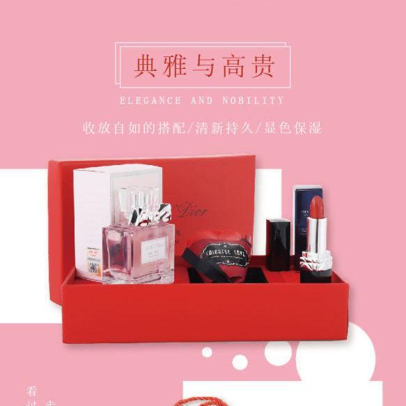 ของแท้ Dior Manny Lipstick 999 Matte Flower Sweetheart Perfume Lasting Gift Set for Girlfriend