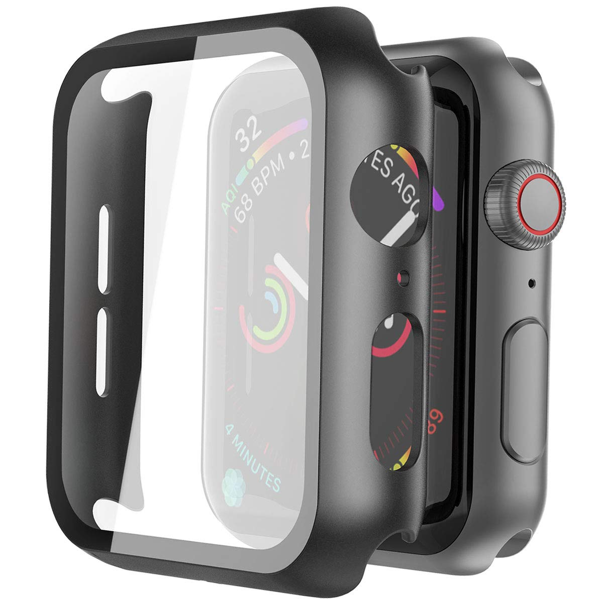 2020 New Cover for apple watch case 44mm 40mm 38mm 42mm screen protector bracelet Tempered Glass apple watch series 5 6