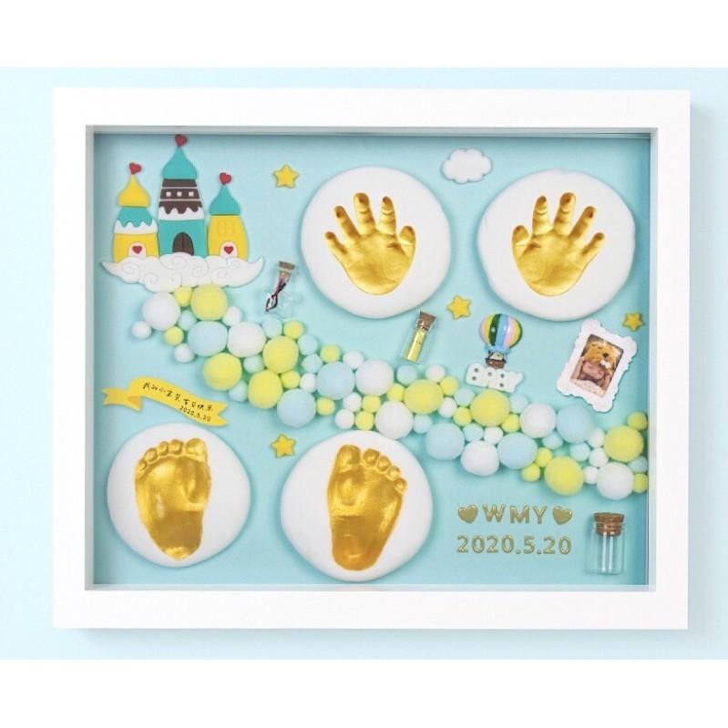 <พร้อมส่ง>#ชุดปั๊มมือเท้าเด็กของขวัญกรอบรูปประดิษฐ์ ที่ระลึก#ปั้มเท้าเด็กแรกเกิด #ของฝาก #ทารก #family #baby #footprint