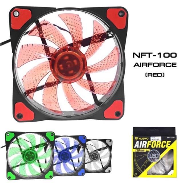 Nubwo พัดลมติดCASE 120MM PC COOLING รุ่น NFT-100 AIRFORCE