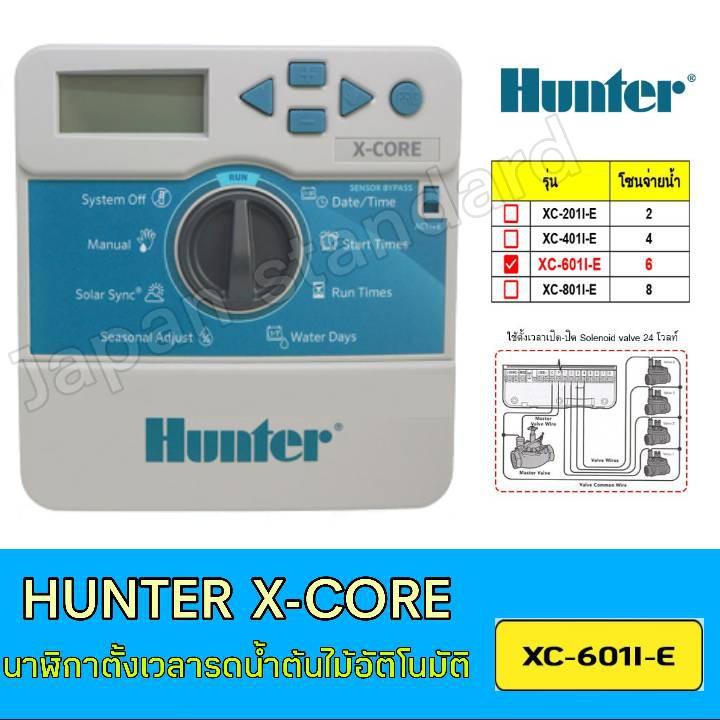 Hunter X-Core XC-601I-E เครื่องตั้งเวลารดน้ำต้นไม้อัตโนมัติ รุ่น 6 สถานี เครื่องควบคุมระบบน้ำ เครื่องตั้งเวลารถน้ำต้นไม้
