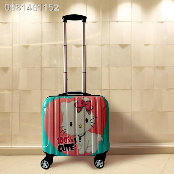 ₪☏☈กระเป๋ารถเข็นเด็กลายการ์ตูนเกาหลี กระเป๋าเดินทางใบเล็กขนาด 16 นิ้ว ตัวเมีย 18 กระเป๋าเดินทางใบเล็กชาย