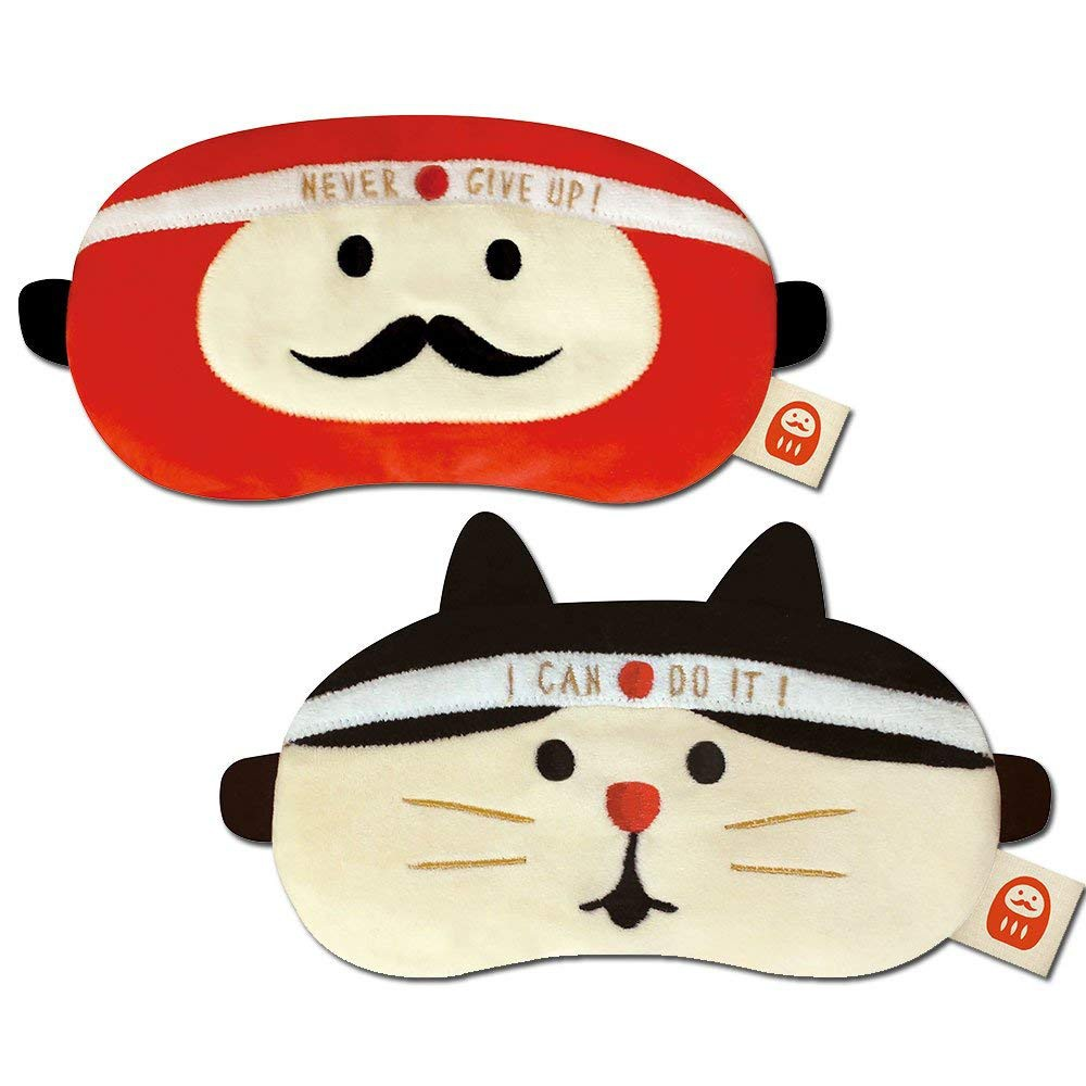 SpotJapanese style daruma inspirational good luck lucky cat anime cute funny eye mask airplane sleep shading summer