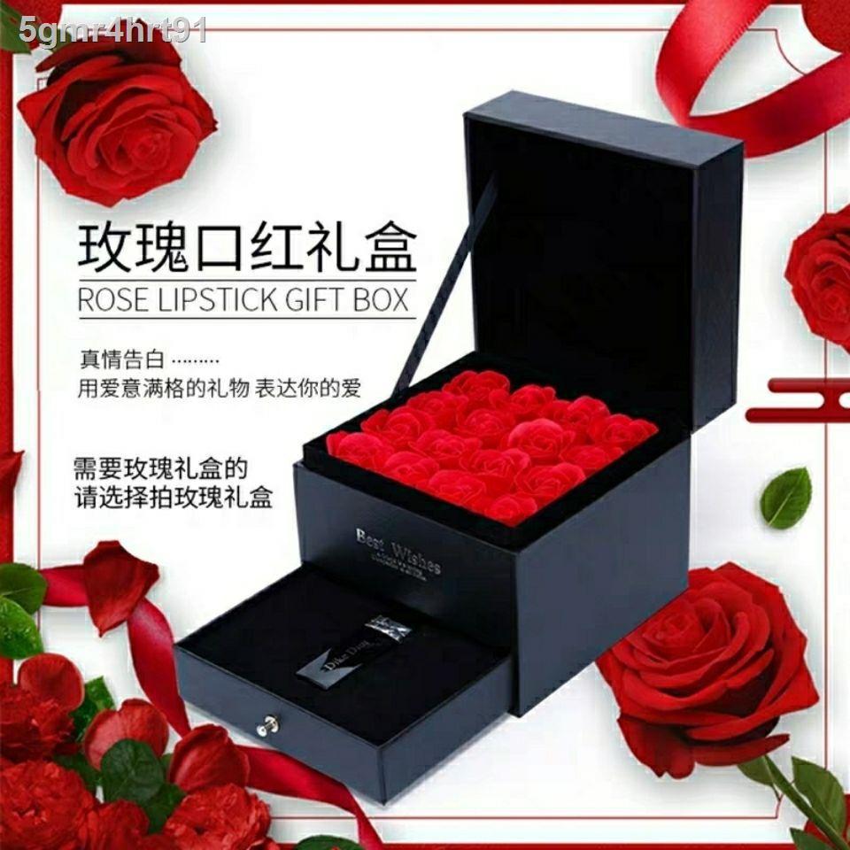 Dior ลิปสติก♦Dicco Dior 999 Matte Moisturizing Lipstick Student Gift Set 520 Valentine s Day for Girlfriend Birthday