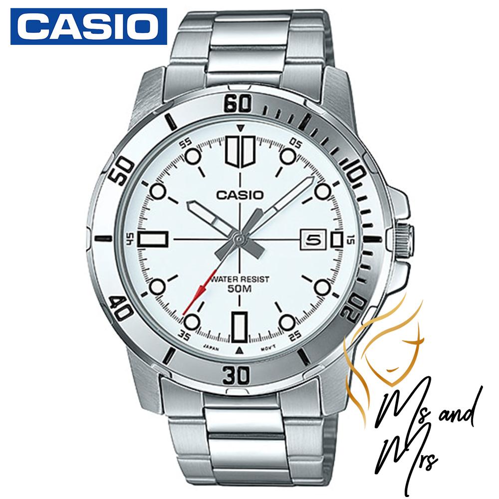ส่งฟรี !! PRESALE Casio Standard นาฬิกาข้อมือสุภาพบุรุษ สายสแตนเลส รุ่น MTP-VD01D-7EVUDF (หน้าขาว) 8Pjz