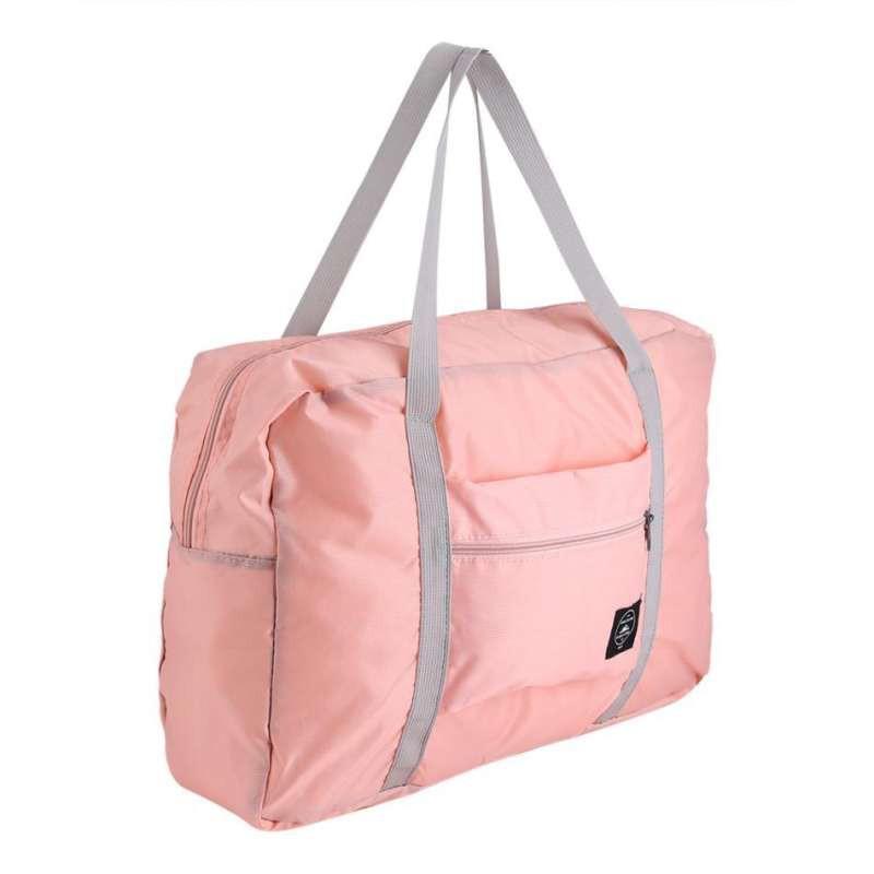 กระเป๋า กระเป๋าถือเดินทาง พับเก็บได้ใส่ของได้เยอะ ขนาดขยาย 48 x 32 x 16 ซม. ขนาดพับ 21 x 18 ซม. MMD